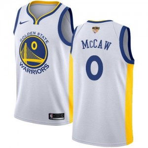 Maillot Basket Patrick McCaw GSW Team 2018 Finals Bound Association Edition Nike #0 Enfant Blanc