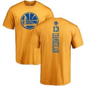 Nike T-Shirt De Basket Wilt Chamberlain GSW Team No.13 Homme & Enfant or One Color Backer