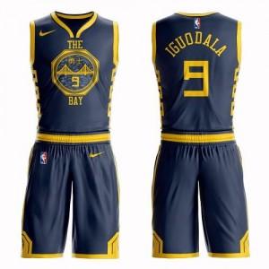 Maillot De Basket Andre Iguodala GSW Team #9 Nike Suit City Edition bleu marine Homme