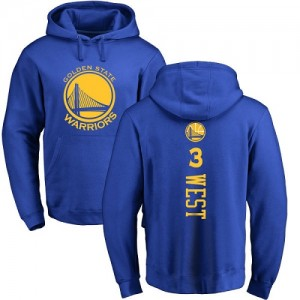 Sweat à capuche De Basket David West GSW Nike Homme & Enfant Bleu royal Backer Pullover No.3