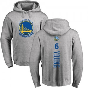 Nike NBA Hoodie Nick Young Warriors #6 Ash Backer Pullover Homme & Enfant