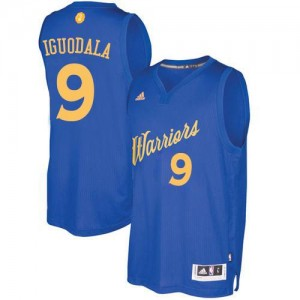 Maillots De Basket Iguodala Golden State Warriors Bleu royal Adidas 2016-2017 Christmas Day #9 Homme