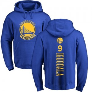 Nike NBA Sweat à capuche Basket Andre Iguodala Golden State Warriors Bleu royal Backer No.9 Homme & Enfant Pullover