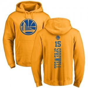 Sweat à capuche De Basket Latrell Sprewell GSW Team Homme & Enfant Nike #15 Pullover or One Color Backer