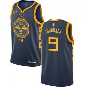 Nike NBA Maillots De Iguodala GSW City Edition No.9 bleu marine Homme
