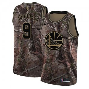Nike NBA Maillot De Andre Iguodala GSW Team #9 Homme Camouflage Realtree Collection