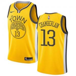 Nike NBA Maillot Wilt Chamberlain GSW #13 Earned Edition Jaune Enfant