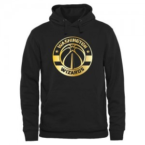 Hoodie Basket Washington Wizards Gold Collection Pullover Noir Homme