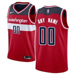 Maillot Personnalisable De Basket Washington Wizards Icon Edition Nike Rouge Homme