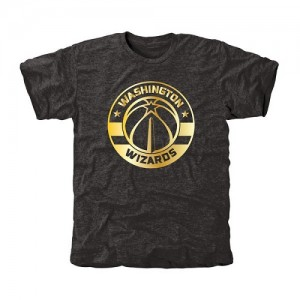 T-Shirt Basket Washington Wizards Gold Collection Tri-Blend Noir Homme
