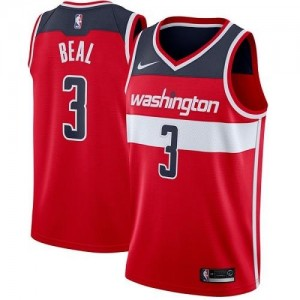 Nike Maillots Bradley Beal Wizards Icon Edition Rouge Homme #3
