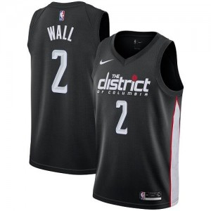 Maillot John Wall Washington Wizards City Edition Nike Noir Enfant No.2