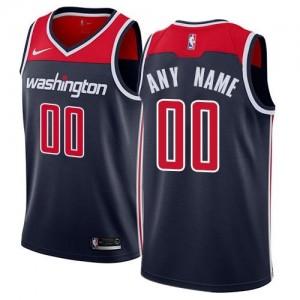 Nike Personnaliser Maillot De Basket Wizards Homme bleu marine Statement Edition