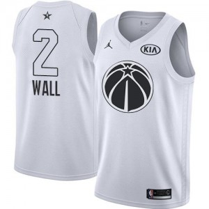 Jordan Brand Maillots De Basket John Wall Washington Wizards 2018 All-Star Game Enfant No.2 Blanc