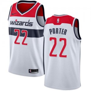 Maillot De Porter Washington Wizards Association Edition Nike No.22 Blanc Enfant