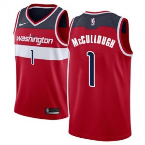 Nike Maillot Chris McCullough Wizards Rouge No.1 Icon Edition Homme