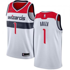 Nike Maillots De Ariza Washington Wizards Enfant #1 Blanc Association Edition