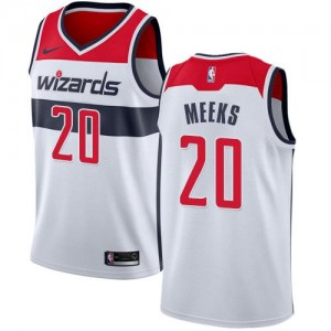 Nike NBA Maillots Meeks Wizards Association Edition Blanc Homme No.20