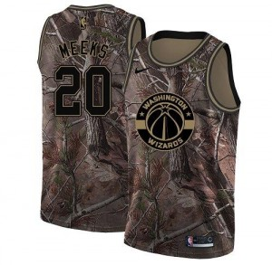 Maillots De Meeks Wizards #20 Enfant Camouflage Nike Realtree Collection
