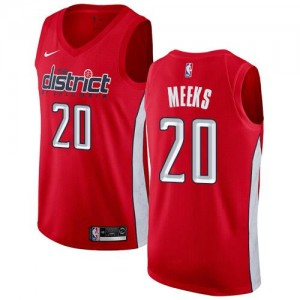 Nike NBA Maillots De Meeks Washington Wizards Homme Rouge #20 Earned Edition