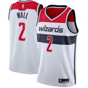 Nike NBA Maillot De Basket Wall Washington Wizards Enfant No.2 Association Edition Blanc