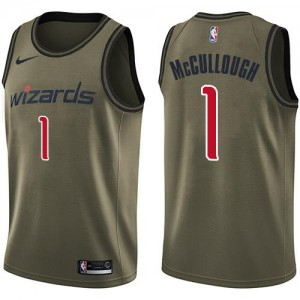 Maillot Basket McCullough Washington Wizards No.1 Homme Nike vert Salute to Service