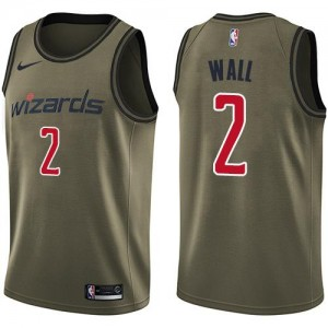 Nike NBA Maillot Basket John Wall Washington Wizards Homme Salute to Service No.2 vert