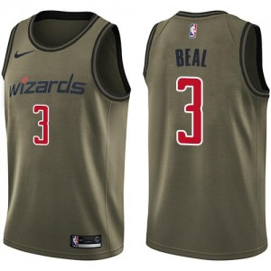 Nike Maillots De Basket Bradley Beal Washington Wizards Salute to Service Homme No.3 vert