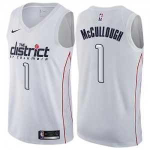 Nike Maillot De McCullough Wizards #1 Homme City Edition Blanc