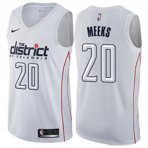 Nike Maillots De Meeks Wizards City Edition No.20 Homme Blanc