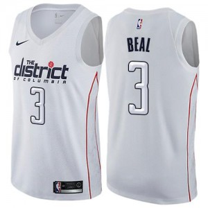 Maillot De Basket Beal Washington Wizards Nike City Edition Homme #3 Blanc