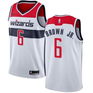 Nike Maillots De Basket Troy Brown Jr. Wizards No.6 Association Edition Blanc Enfant