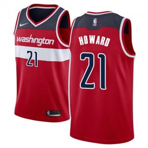 Nike Maillots Howard Washington Wizards No.21 Rouge Icon Edition Homme
