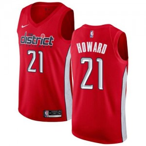 Nike NBA Maillot De Howard Washington Wizards Earned Edition Homme Rouge #21