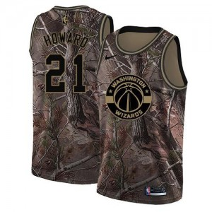 Maillots Basket Howard Wizards No.21 Camouflage Homme Realtree Collection Nike