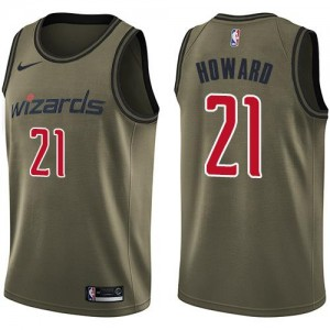 Maillots De Dwight Howard Wizards No.21 Homme vert Salute to Service Nike