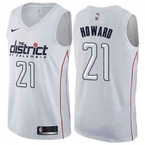 Nike NBA Maillots De Dwight Howard Wizards #21 Blanc Enfant City Edition