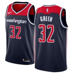 Nike Maillots Basket Green Wizards #32 Homme bleu marine Statement Edition