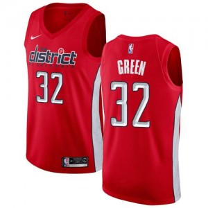 Nike NBA Maillot Jeff Green Wizards Earned Edition Homme Rouge No.32