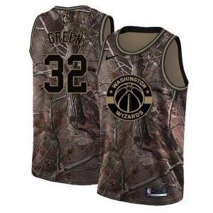 Nike Maillots Basket Green Wizards Realtree Collection Camouflage #32 Homme