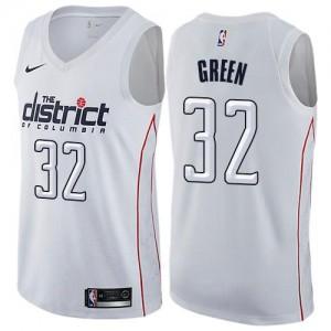Nike NBA Maillot Basket Green Wizards Blanc Enfant City Edition No.32