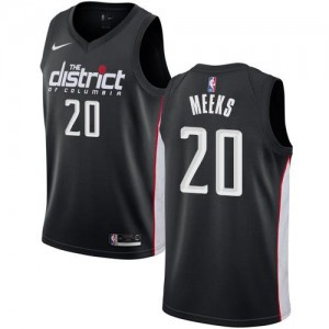 Nike NBA Maillot Basket Meeks Washington Wizards City Edition Noir Enfant #20