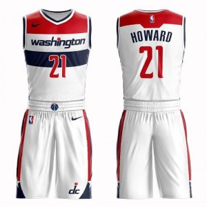 Maillot Basket Dwight Howard Washington Wizards Nike Suit Association Edition No.21 Blanc Homme