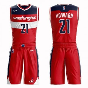 Maillots De Dwight Howard Wizards Rouge Nike Enfant #21 Suit Icon Edition