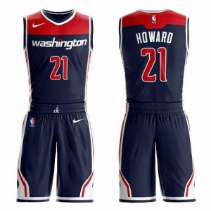 Maillots De Howard Wizards Enfant #21 Nike Suit Statement Edition bleu marine