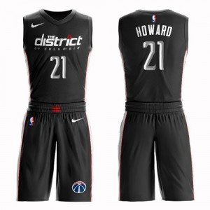 Maillots Dwight Howard Wizards #21 Noir Nike Enfant Suit City Edition