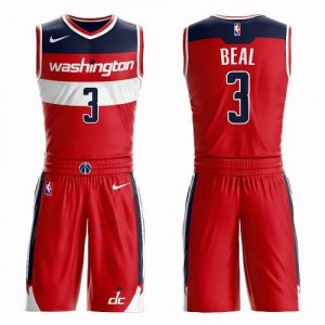 Nike NBA Maillot De Basket Beal Wizards Suit Icon Edition Homme #3 Rouge