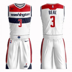 Maillot Basket Beal Washington Wizards Suit Association Edition Blanc Nike Enfant #3