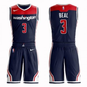 Maillots Basket Bradley Beal Wizards No.3 Enfant Nike Suit Statement Edition bleu marine