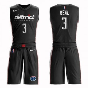 Nike NBA Maillots Basket Beal Wizards Suit City Edition Noir Homme No.3